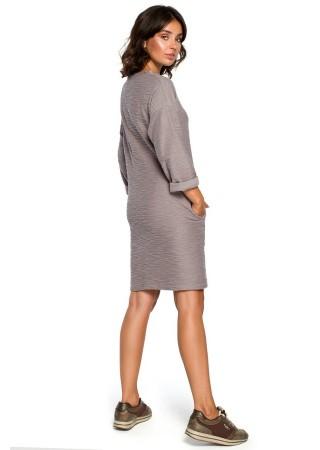 Ērta kleita pelēka B096-grey BE Kleitas Greetha