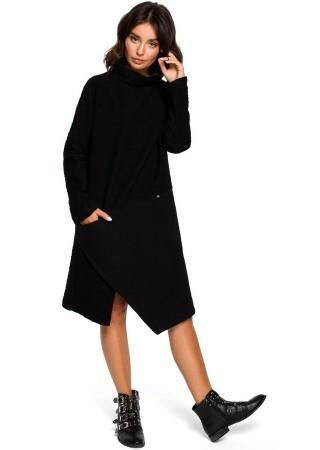 Ērta kleita melna B098-black BE Kleitas Greetha
