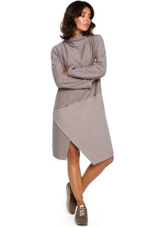 Ērta kleita pelēka B098-grey BE Kleitas Greetha