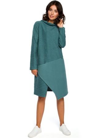 Ērta kleita tirkīzzila B098-turquoise BE Kleitas Greetha