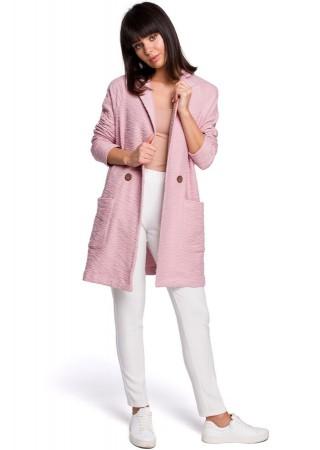 Eleganta jaka pūdera rozā B099-powder BE Džemperi, Jakas Greetha