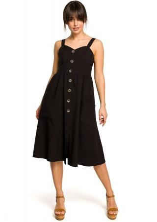 Skaista kleita melna B117-black BE Kleitas Greetha