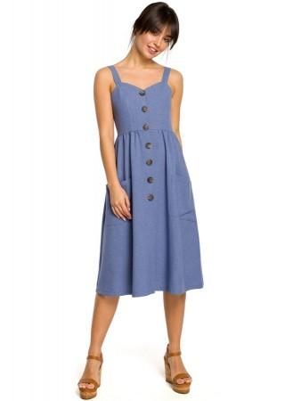 Skaista kleita zila B117-blue BE Kleitas Greetha