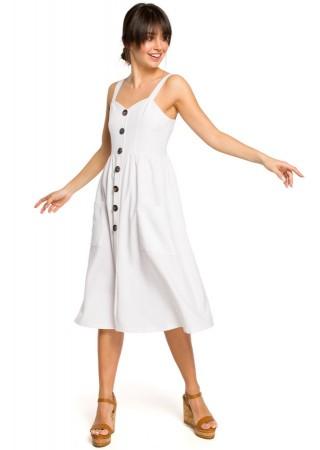 Skaista kleita balta B117-white BE Kleitas Greetha