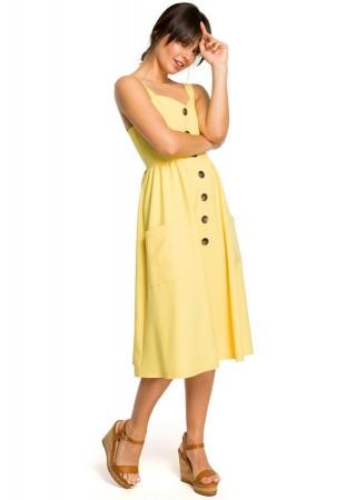 Skaista kleita dzeltena B117-yellow BE Kleitas Greetha