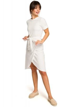Ērta kokvilnas kleita ecru balta B118-ecru BE Kleitas Greetha