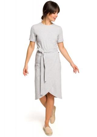 Ērta kokvilnas kleita pelēka B118-grey BE Kleitas Greetha