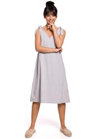 Brīva piegriezuma kleita pelēka B148-grey BE Kleitas Greetha
