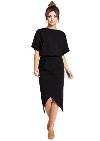 Stilīga kleita ar kabatām melna B029-black BE Kleitas Greetha