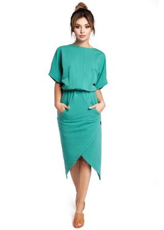 Stilīga kleita ar kabatām zaļa B029-green BE Kleitas Greetha
