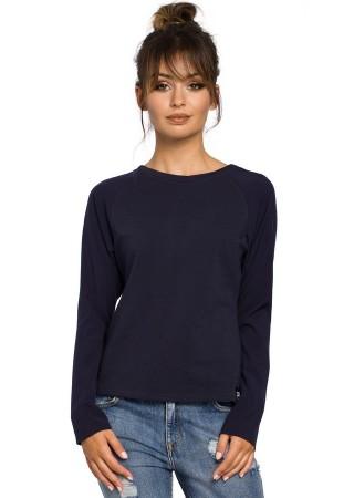Svīteris tumši zils B047-navy blue BE Sportiska stila jakas, Džemperi, Svīteri, Kardigani Greetha