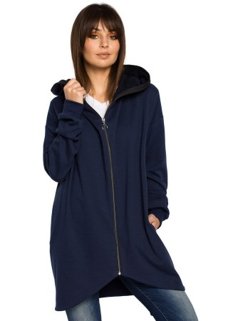Jaka ar kapuci tumši zila B054-navy blue BE Džemperi, Jakas Greetha