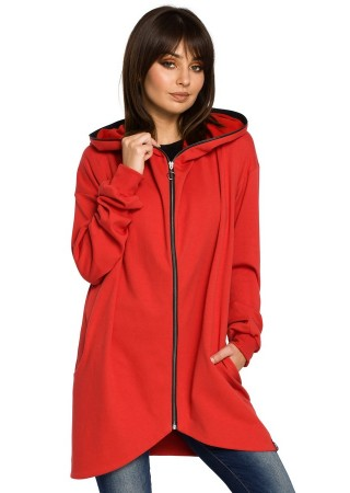 Jaka ar kapuci sarkana B054-red BE Džemperi, Jakas Greetha