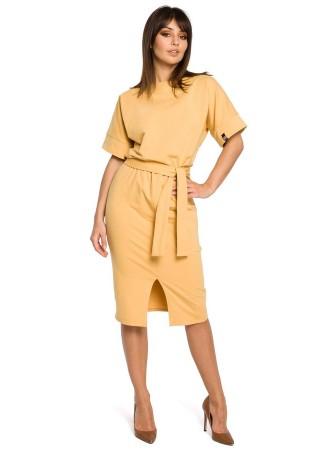 Kokvilnas kleita dzeltena B062-yellow BE Kleitas Greetha