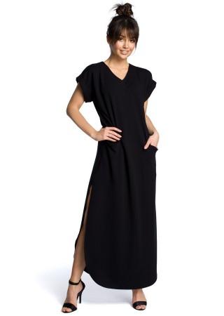 Garā maxi kleita melna B065-black BE Kleitas Greetha