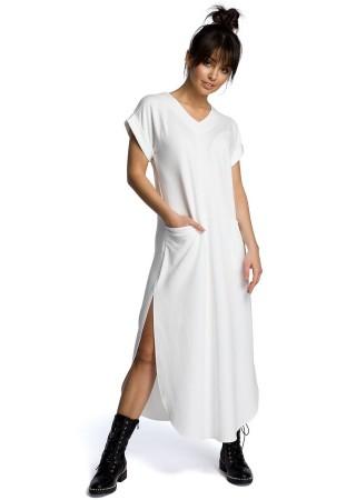 Garā maxi kleita balta B065-ecru BE Kleitas Greetha