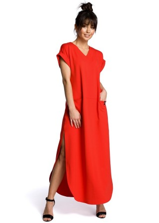 Garā maxi kleita sarkana B065-red BE Kleitas Greetha
