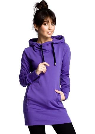 Svīteris ar kapuci violets B072-purple BE Džemperi, Jakas Greetha