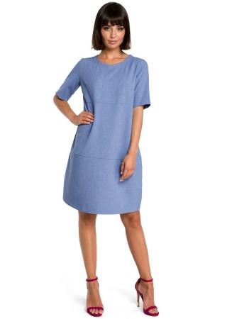 Kleita zila B082-blue BE Kleitas Greetha