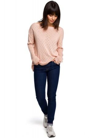 One size džemperis gaiši rozā BK019-peach BE Knit Džemperi, Jakas Greetha