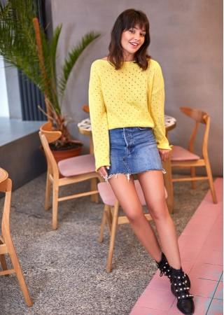 One size džemperis dzeltens BK019-yellow BE Knit Džemperi, Jakas Greetha