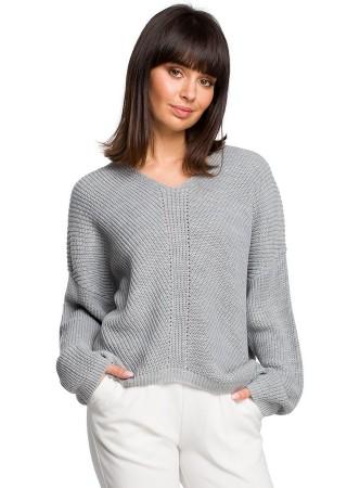 Džemperis pelēks BK026-grey BE Knit Džemperi, Jakas Greetha