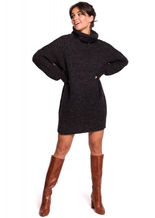 Garais džemperis antracīta pelēks BK030-grey BE Knit Kleitas Greetha