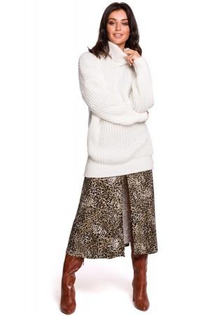 Garais džemperis balts BK030-white BE Knit Kleitas Greetha