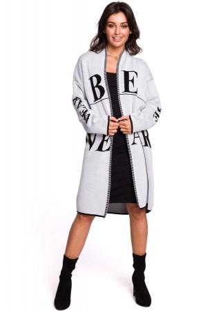 Adīta garā jaka BK040-model 1 BE Knit Džemperi, Jakas Greetha