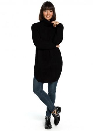 Džemperis melns BK005-black BE Knit Džemperi, Jakas Greetha