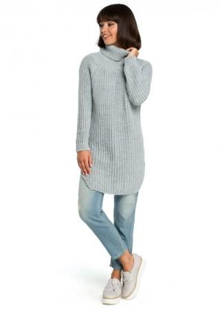 Džemperis pelēks BK005-grey BE Knit Džemperi, Jakas Greetha