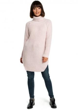 Džemperis rozā BK005-pink BE Knit Džemperi, Jakas Greetha