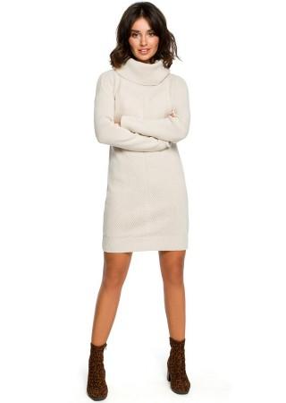 Adīta džemperkleita bēša BK010-beige BE Knit Kleitas Greetha