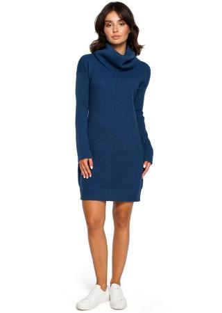 Adīta džemperkleita zila BK010-blue BE Knit Kleitas Greetha