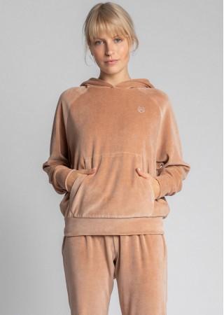 Loungewear samta hūdijs bēšs LA013-beige LaLupa Naktskrekli, Pidžamas, Halāti Greetha