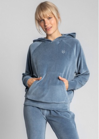 Loungewear samta hūdijs zils LA013-blue LaLupa Naktskrekli, Pidžamas, Halāti Greetha