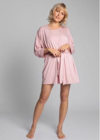 Mīksts īsais halāts rozā LA032-pink LaLupa Naktskrekli, Pidžamas, Halāti Greetha
