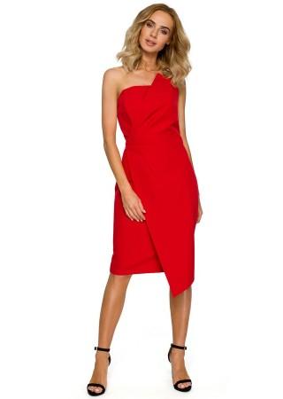 Eleganta kleita sarkana M409-red Moe Kleitas Greetha