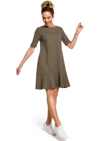 Sievišķīga kleita olīvkrāsā M419-green Moe Kleitas Greetha