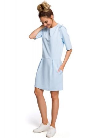 Kleita gaiši zila M422-light blue Moe Kleitas Greetha
