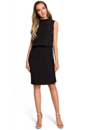 Eleganta kleita melna M423-black Moe Kleitas Greetha