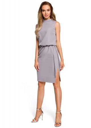 Eleganta kleita pelēka M423-grey Moe Kleitas Greetha