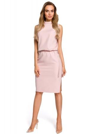 Eleganta kleita pūdera rozā M423-powder Moe Kleitas Greetha