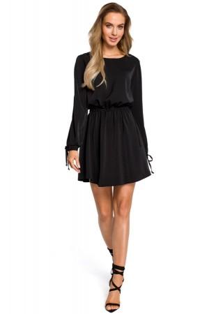 Sievišķīga kleita melna M426-black Moe Kleitas Greetha