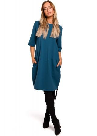 Oversize kleita zila M451-ocean blue Moe Kleitas Greetha