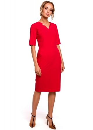 Pievilcīga kleita sarkana M455-red Moe Kleitas Greetha