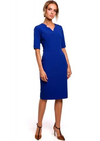 Pievilcīga kleita zila M455-royal blue Moe Kleitas Greetha