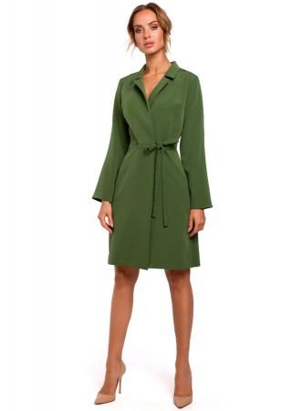 Wrap stila kleita zaļa M462-green Moe Kleitas Greetha