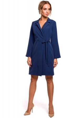 Wrap stila kleita tumši zila M462-navy blue Moe Kleitas Greetha