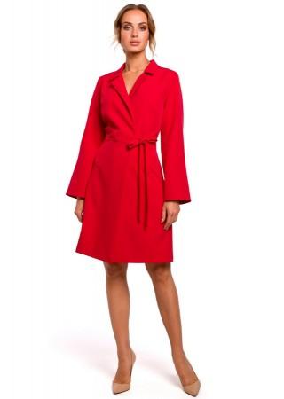 Wrap stila kleita sarkana M462-red Moe Kleitas Greetha